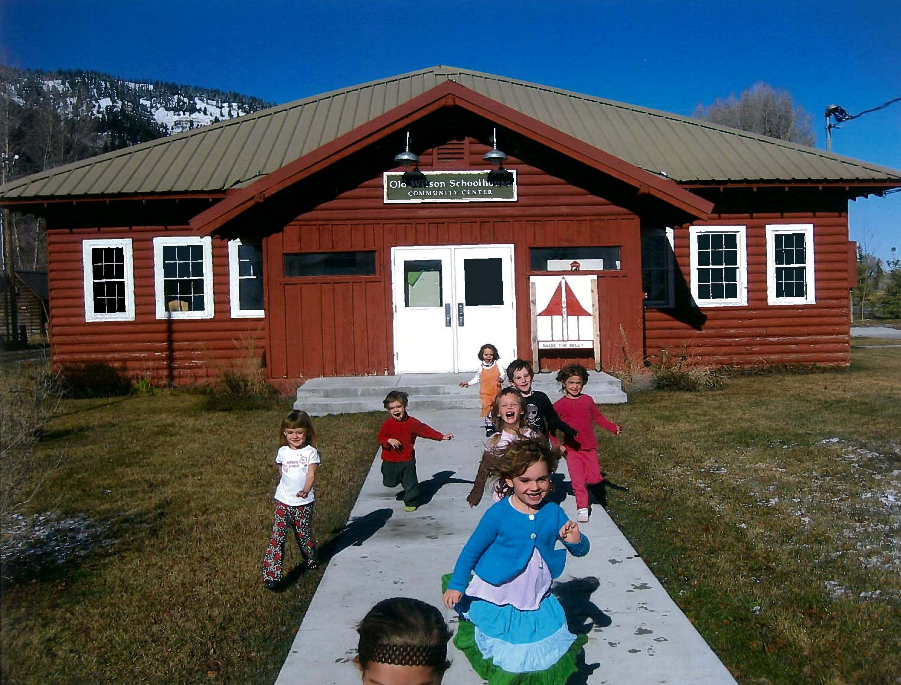 Young visitors to the historic Old Wilson School House Community Center, which dates from 1930.