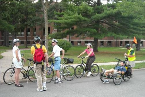 A guided bike tour of historic Wausau learning about the 1908 Grant Elementary School.