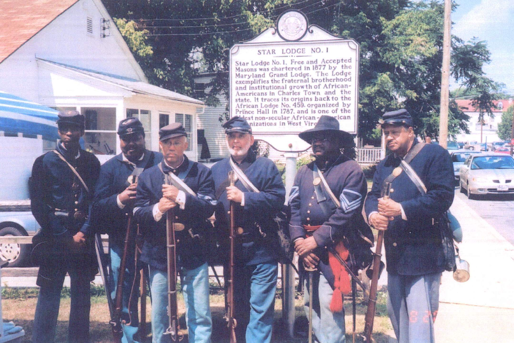 Civil War reenactors in Charles Town.