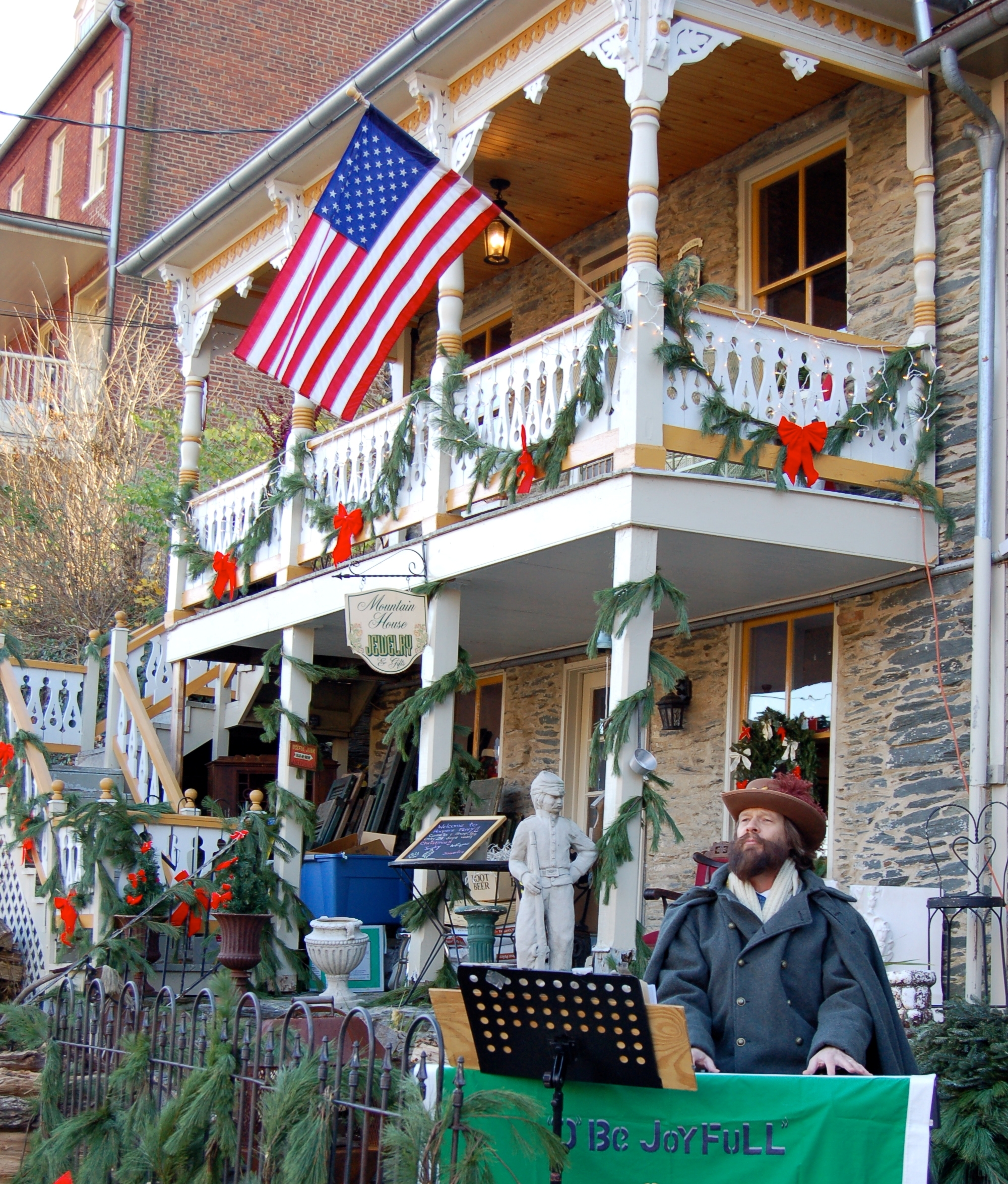 Celebrating the winter holidays in historic Harper's Ferry.