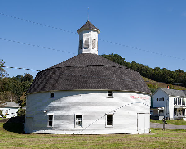 The Hamilton Round Barn in Mannington is preserved by the West Augusta Historical Society.