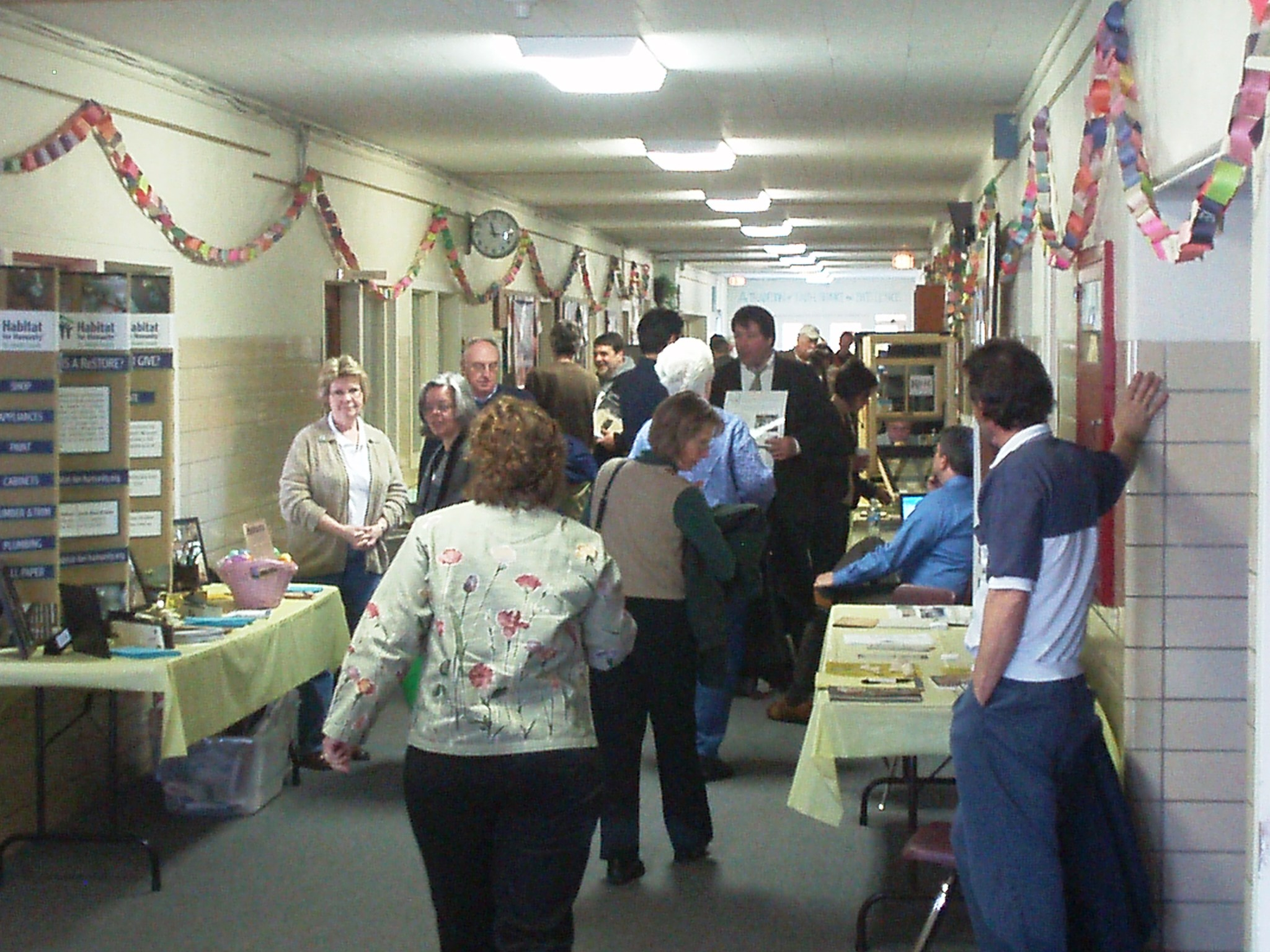 Residents browse the vendor hall at an Old House Workshop in St. Joseph County, Indiana