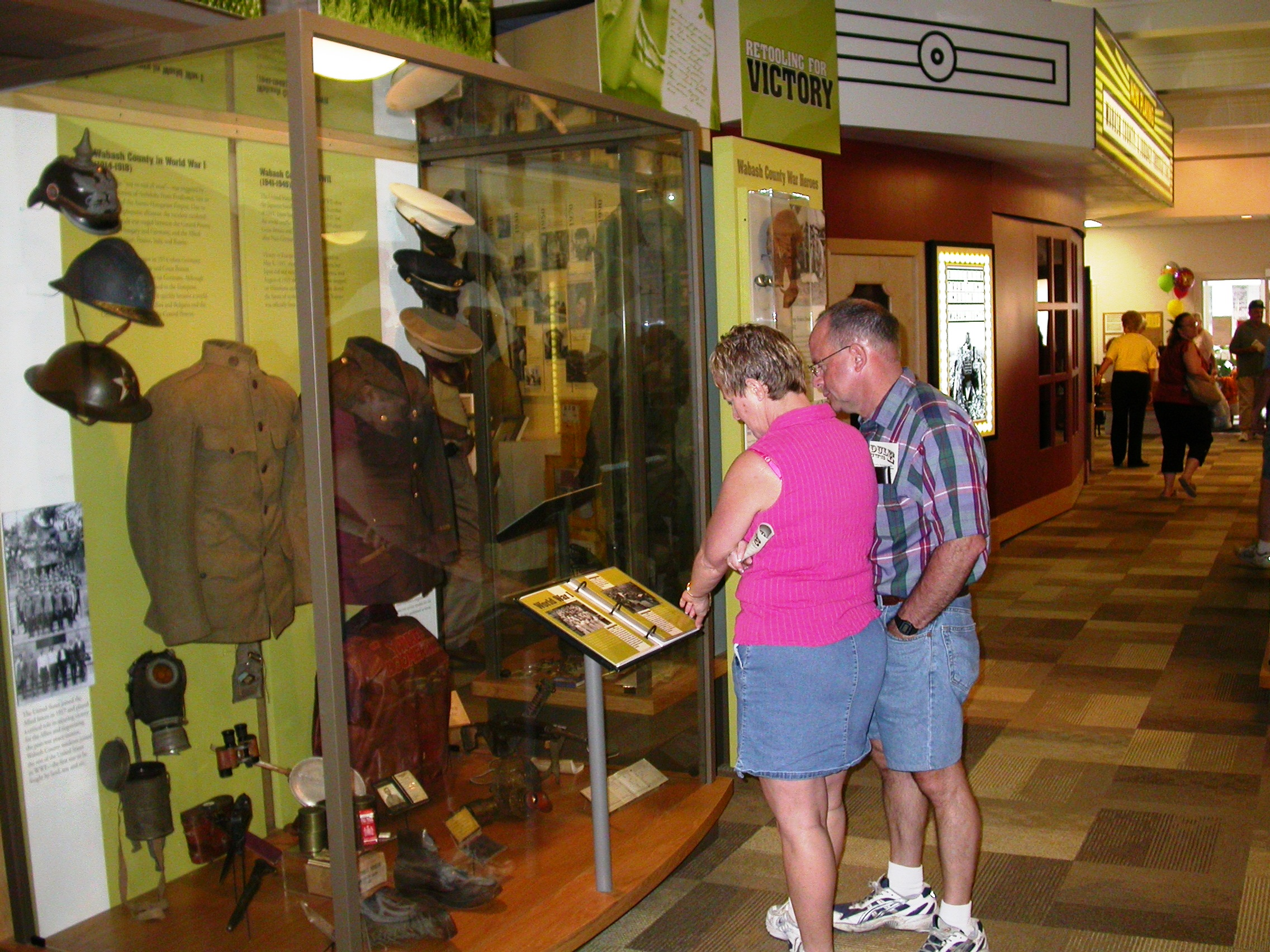 Visitors enjoy the state-of-the-art displays at the Wabash County Historical Museum