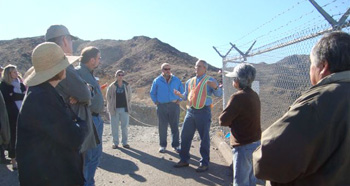 On site consultation meeting in Topock, Arizona. Photo taken by ACHP staff.