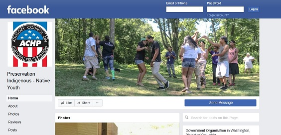 Image of Preservation Indigenous - Native Youth facebook page