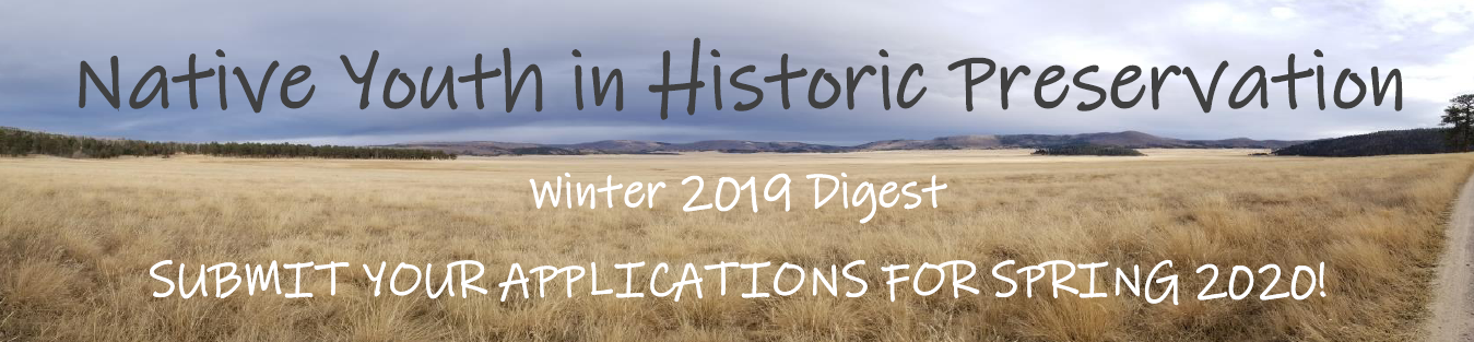Native Youth In Preservation Winter Newsletter 2019