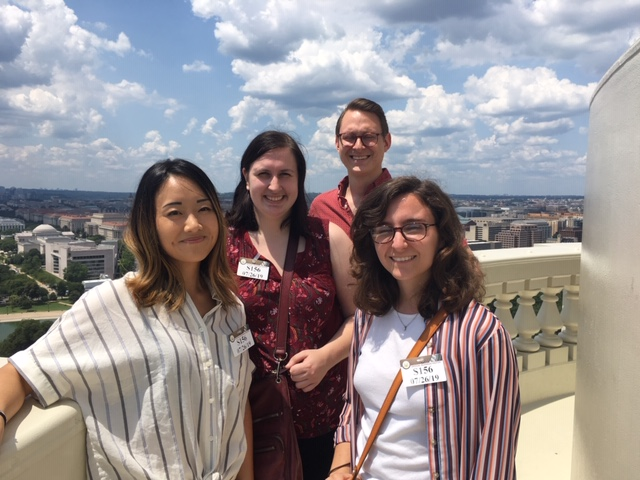 Four summer 2019 interns on a tour of the Capitol Dome