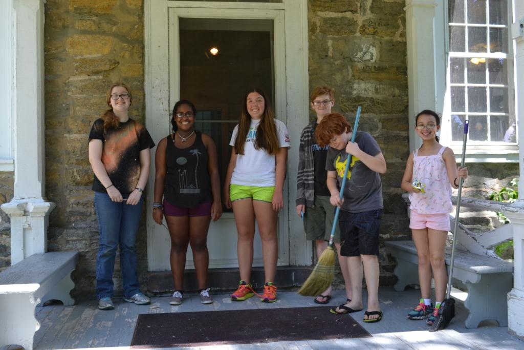 Youth volunteers during a site clean up day at the Ephrata Tract, June 2015. (Photo credit: Suzanne Keller)