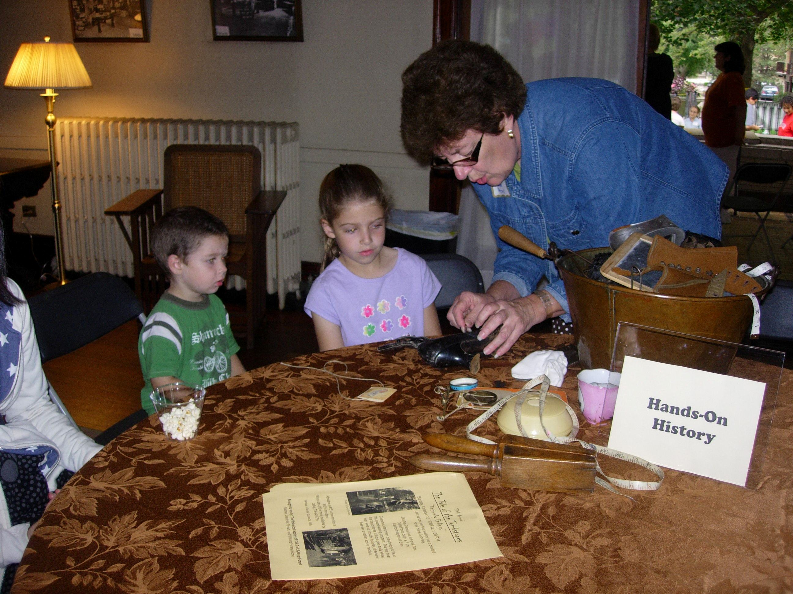 Hands-On History at the Pleasant Home Children's Day. (Photo credit: Pleasant Home Foundation.)
