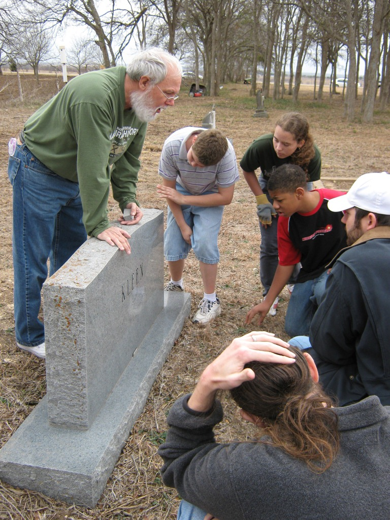 Hopewell Middle School students were among the volunteers working to preserve historic Union Hill Cemetery.