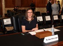 Aimee Jorjani at her Senate Committee Hearing