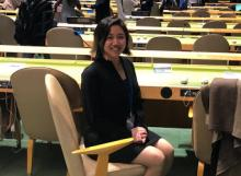 Emily Choi at the United Nations