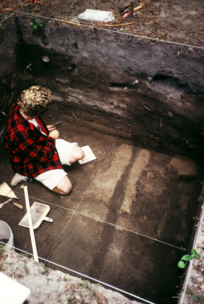 Excavating one of the original houses