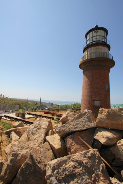 The lighthouse at its original site