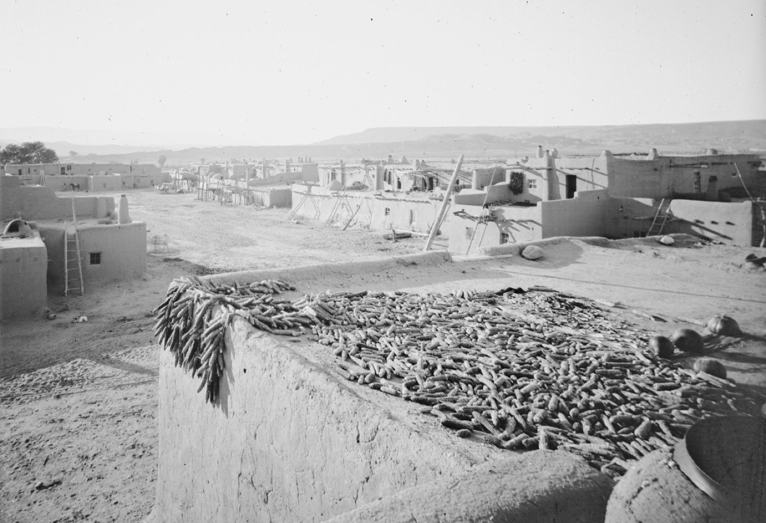 View of Ohkay Owingeh, then known as San Juan Pueblo, in 1877