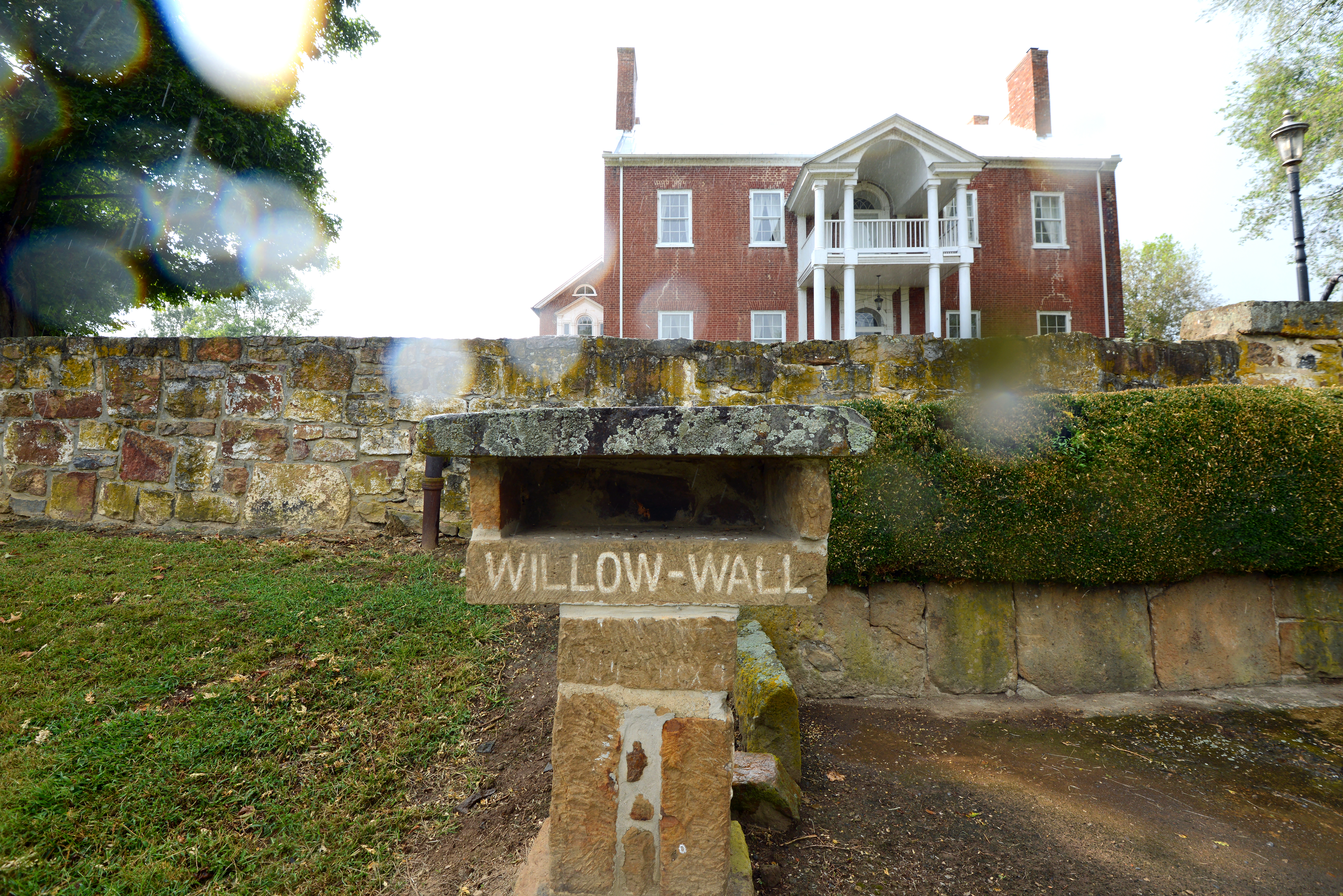 Willow Wall, listed on the National Register, in the APE