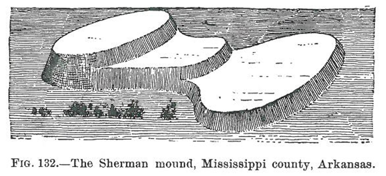 1881 illustration of the mound